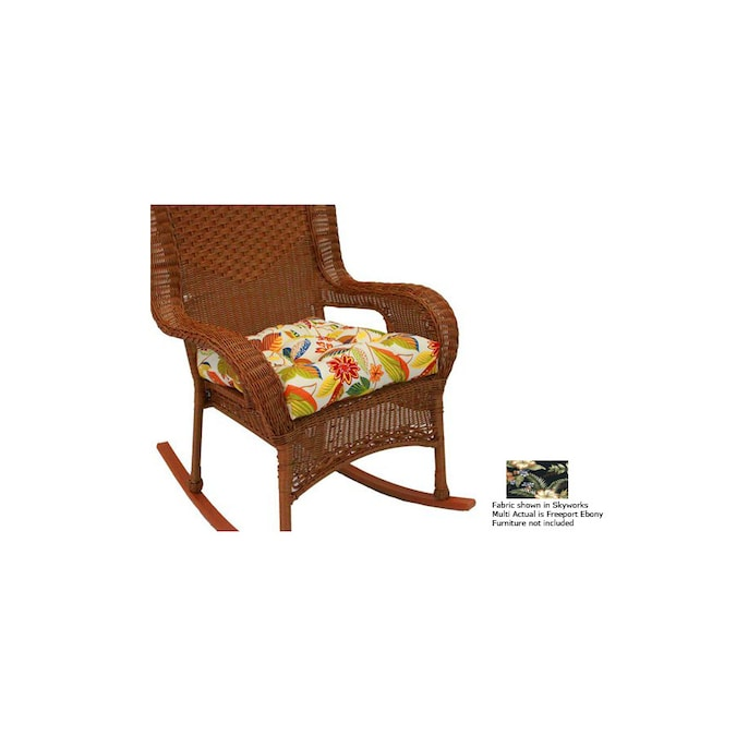 Blazing Needles Freeport Ebony Patio Chair Cushion At Lowes Com