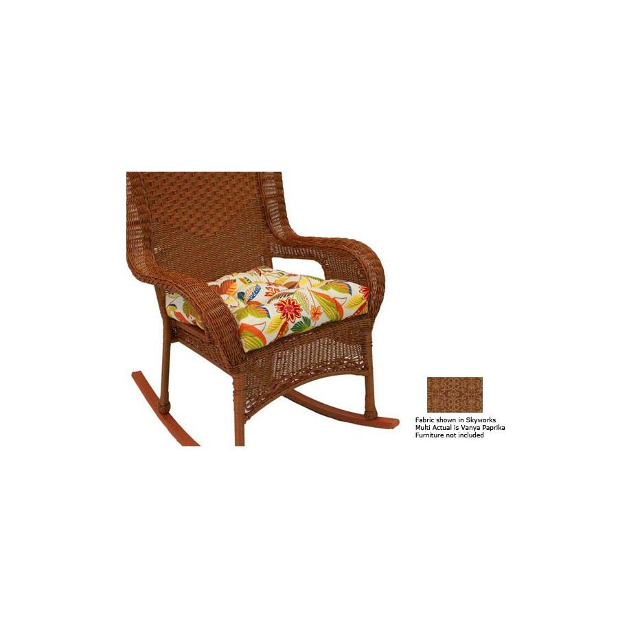 shop blazing needles vanya paprika patio chair cushion at lowes com