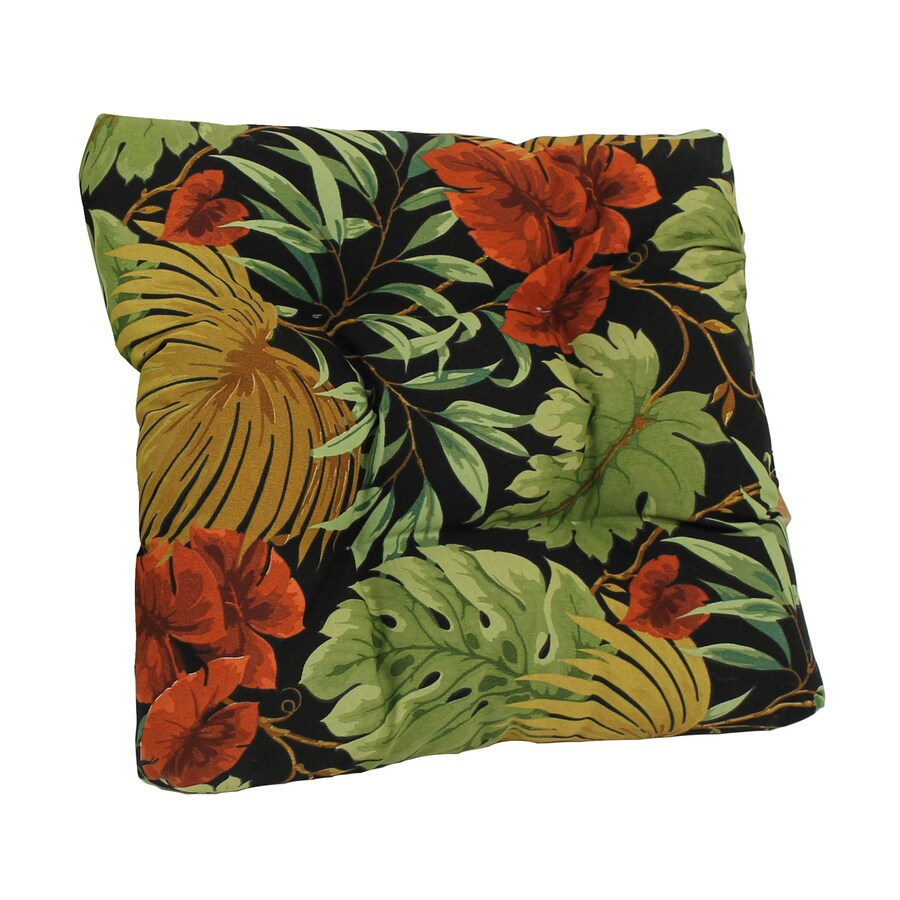 Blazing Needles Tropique Raven Tropical Cushion for Rocking Chairs