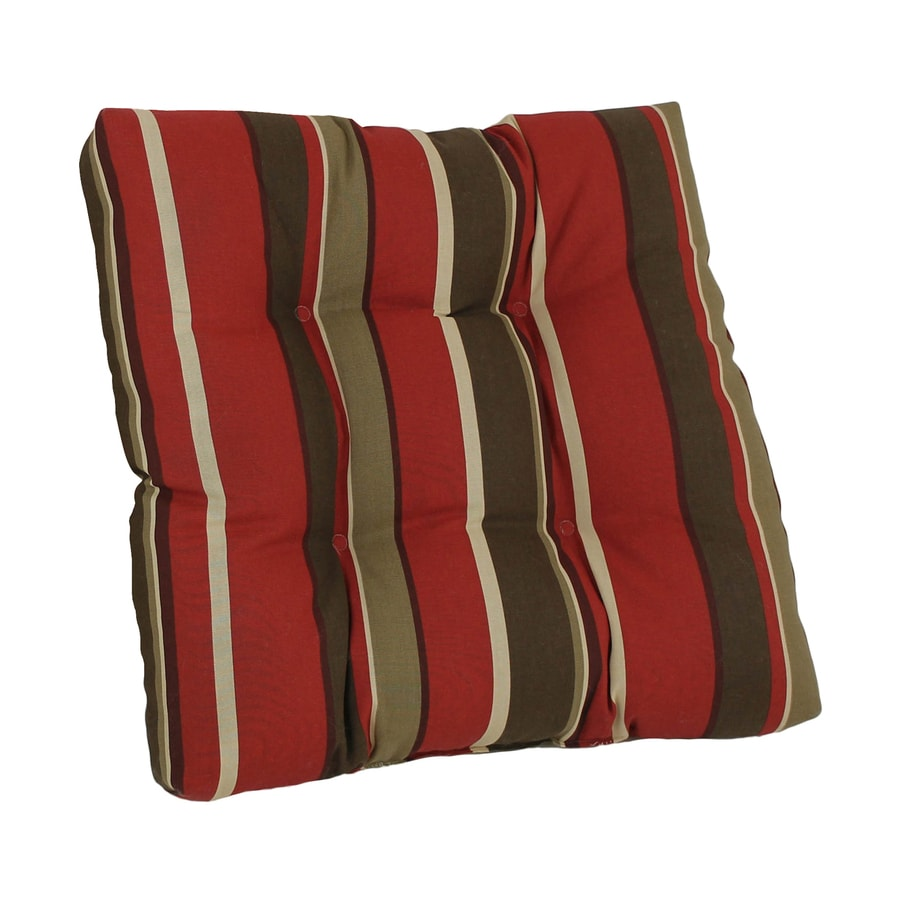Blazing Needles Monserrat Sangria Stripe Cushion for Rocking Chairs