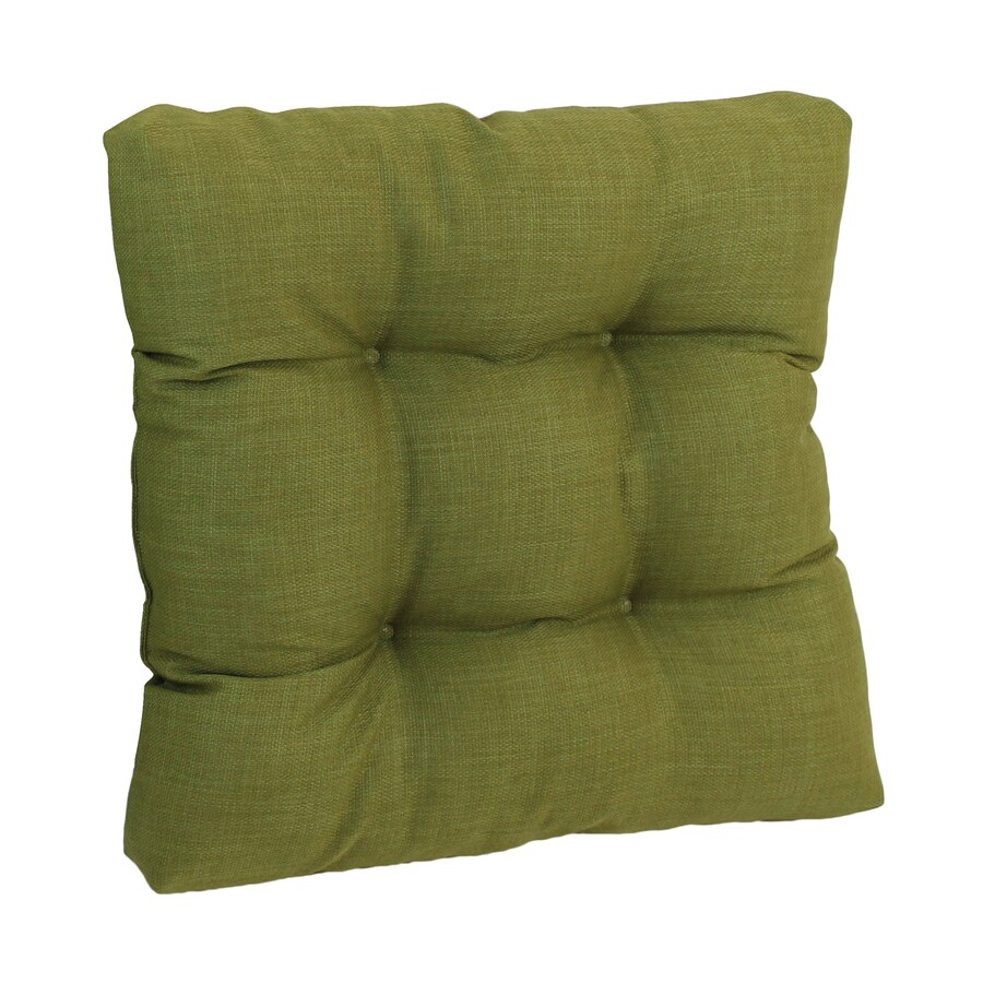 Blazing Needles 1-Piece Avocado Standard Patio Chair Cushion