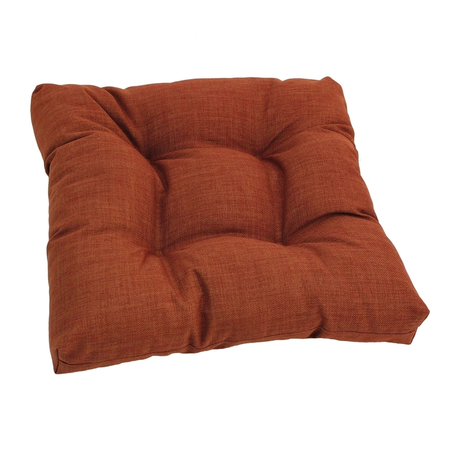 Blazing Needles Cinnamon Solid Standard Patio Chair Cushion for Rocking Chair