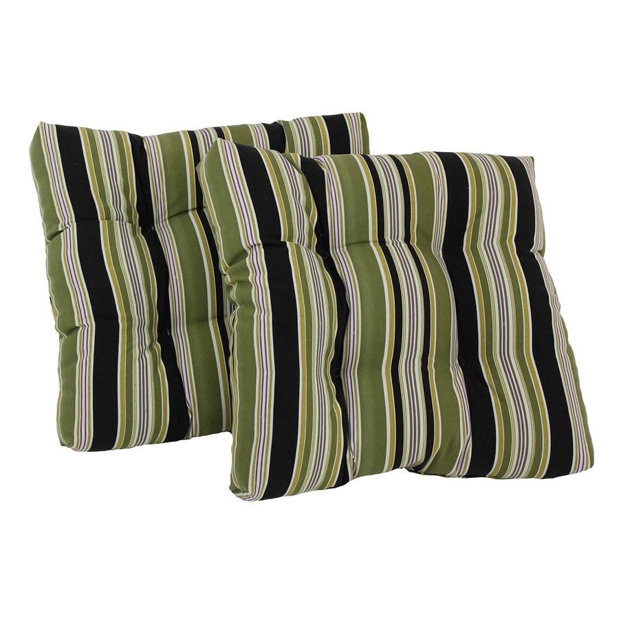 Blazing Needles Eastbay Onyx Stripe Cushion for Rocking Chairs