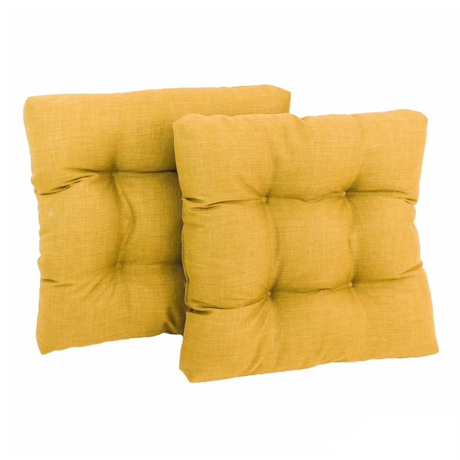 Blazing Needles Lemon Solid Standard Patio Chair Cushion for Rocking Chair