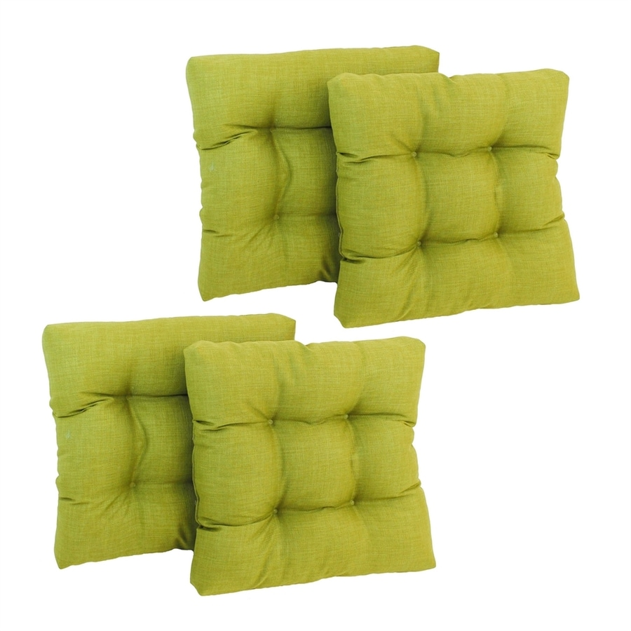 Blazing Needles 4-Piece Lime Standard Patio Chair Cushion