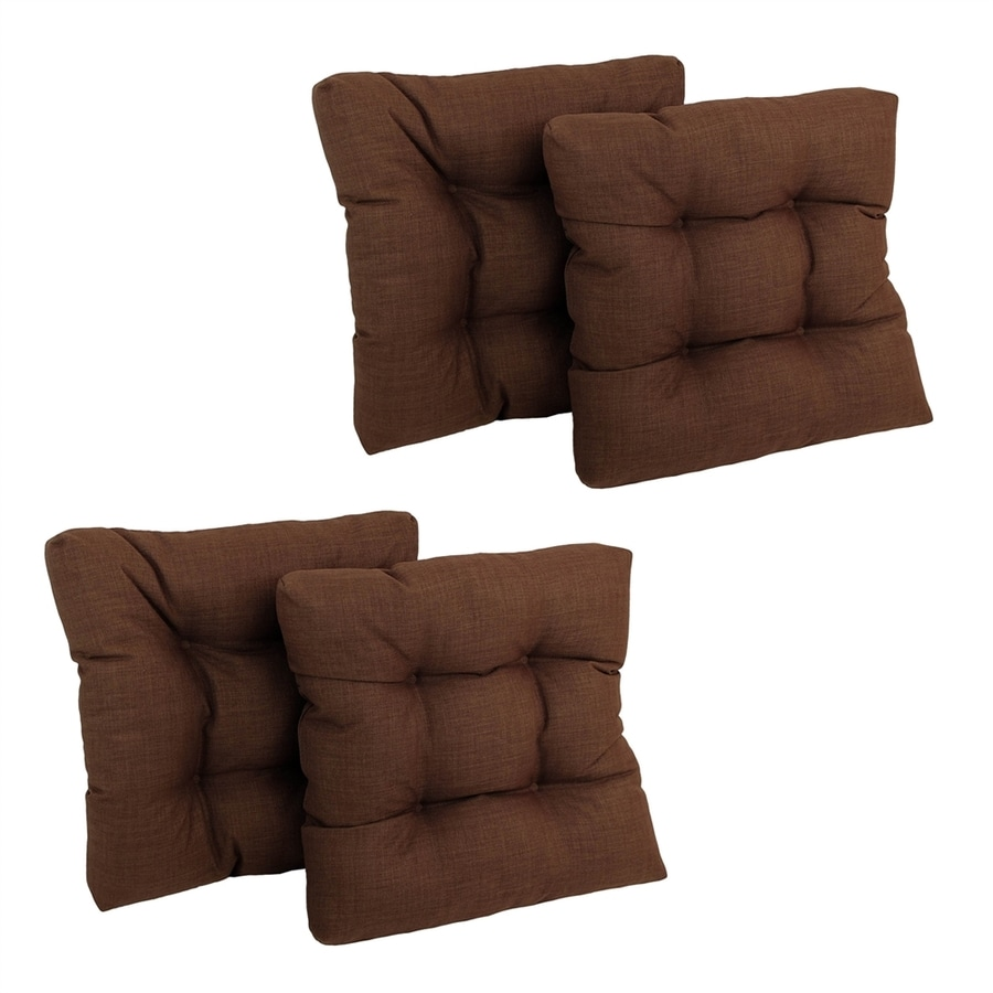 Blazing Needles 4-Piece Cocoa Standard Patio Chair Cushion