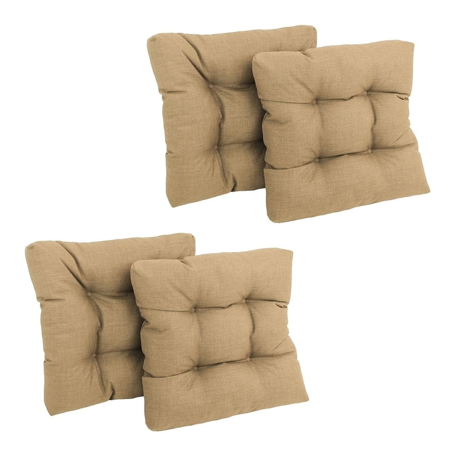 Blazing Needles Sandstone Solid Standard Patio Chair Cushion for Rocking Chair