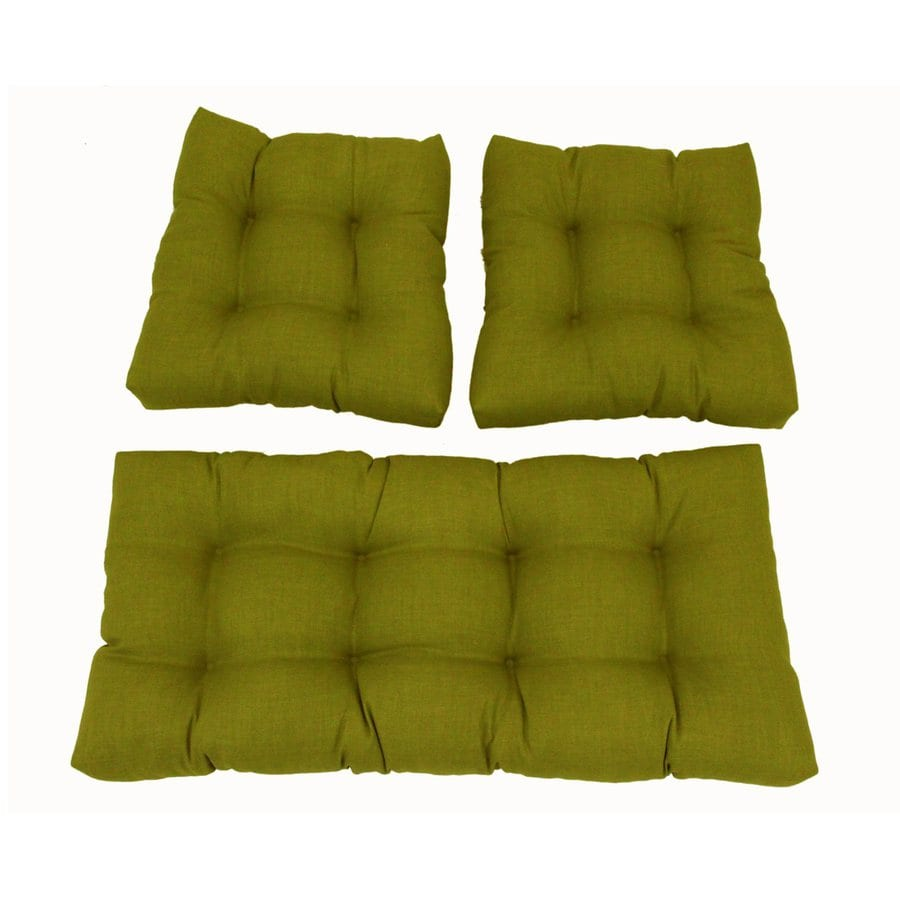 Blazing Needles Avocado Solid Standard Patio Chair Cushion