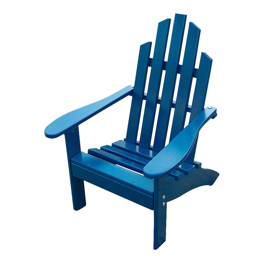 Prairie Leisure Design Berry Blue Pine Patio Adirondack Chair