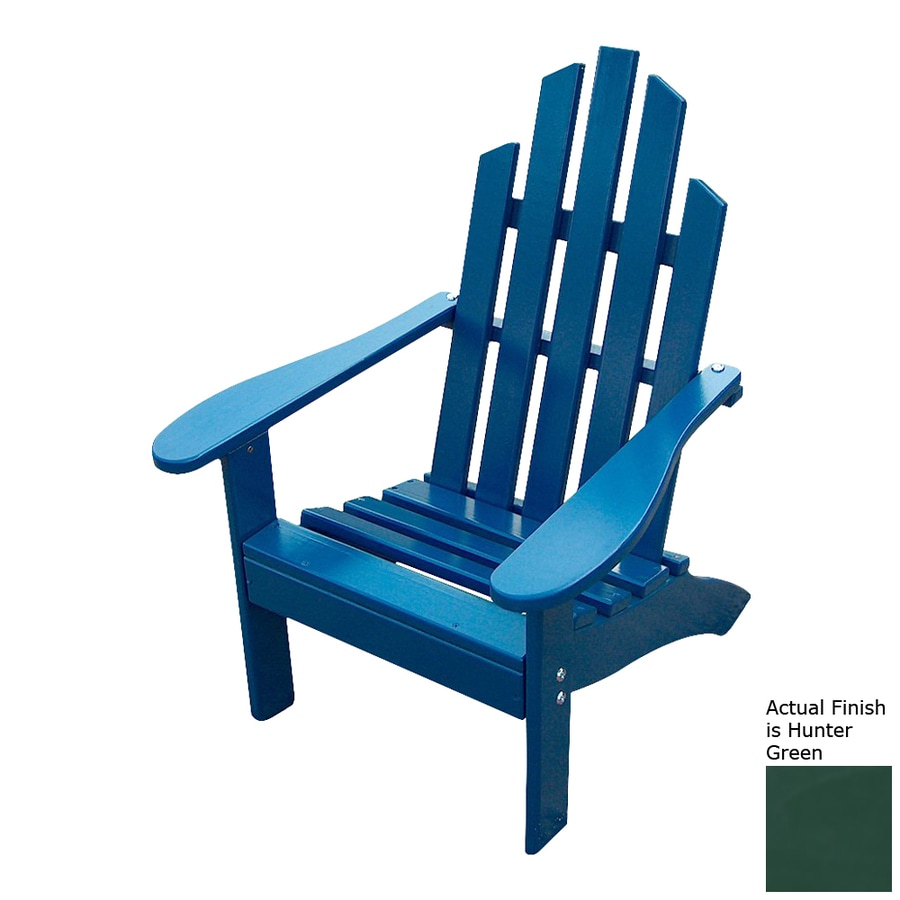 Prairie Leisure Design Hunter Green Pine Patio Adirondack Chair