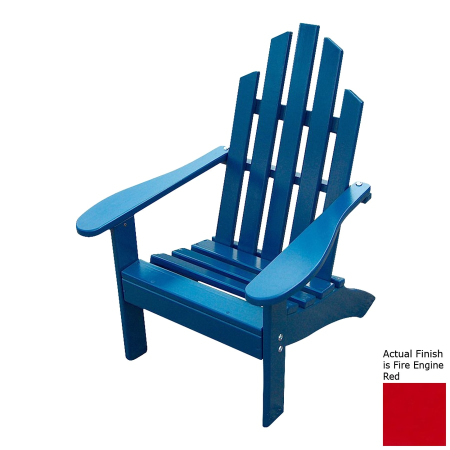 Prairie Leisure Design Fire Engine Red Pine Patio Adirondack Chair