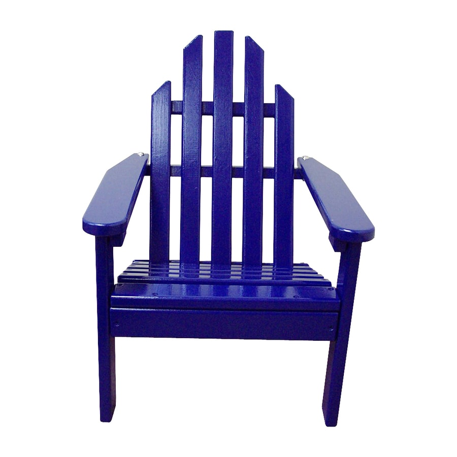 Prairie Leisure Design Berry Blue Patio Adirondack Chair