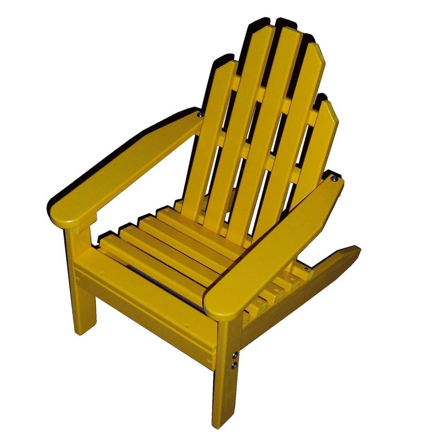 Prairie Leisure Design Buttercup Yellow Patio Adirondack Chair