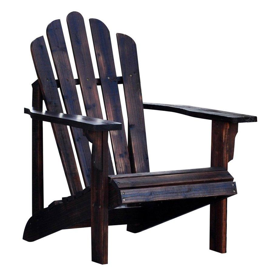 Shine Company Westport Burnt Brown Cedar Patio Adirondack Chair