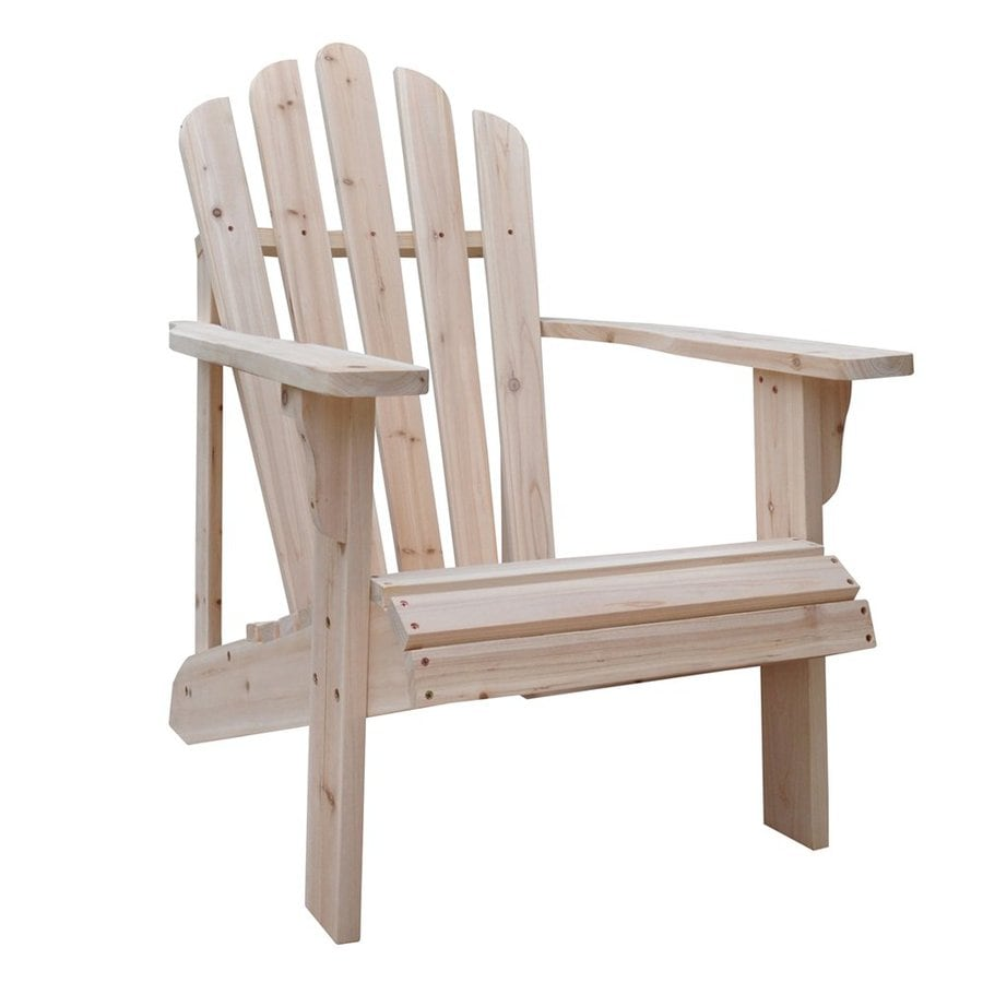 Shine Company Westport Cedar Adirondack Chair With Slat Seat