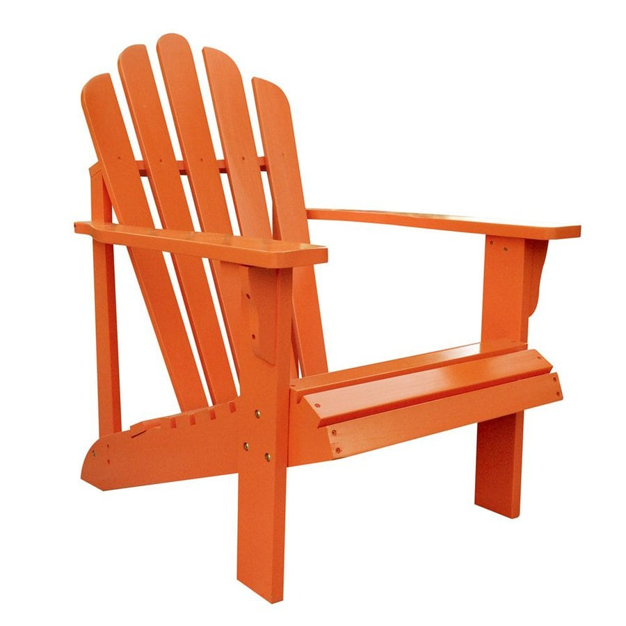How to make a simple wooden chair - Shine Company Westport Tangerine Cedar Patio Adirondack Chair Lowes Plans R