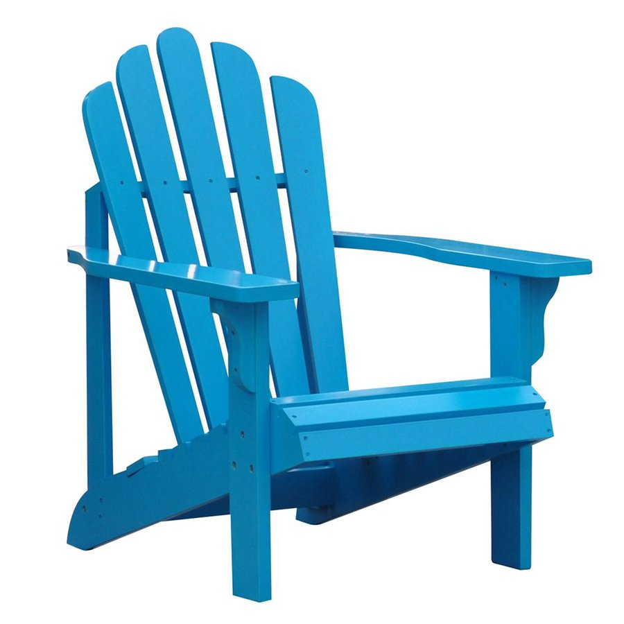 Shine Company Westport Turquoise Cedar Patio Adirondack Chair