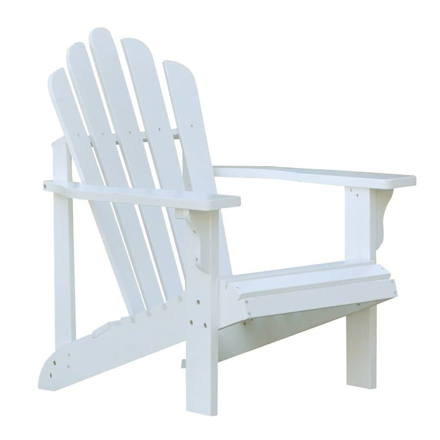 Shine Company Westport White Cedar Patio Adirondack Chair