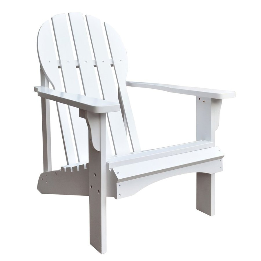 Shine Company Captiva White Cedar Patio Adirondack Chair