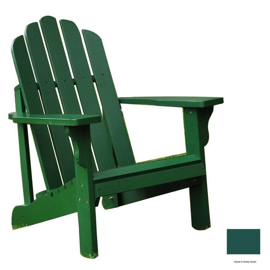 Shine Company Hunter Green Adirondack Chair