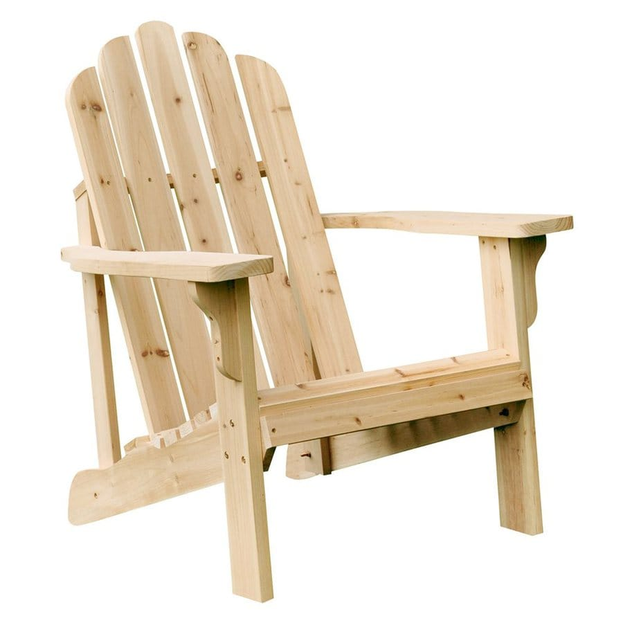 Shop Shine Company Marina Natural Cedar Patio Adirondack Chair At