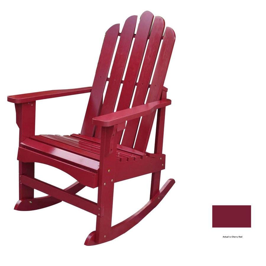 Shine Company Cherry Red Rocking Adirondack Chair
