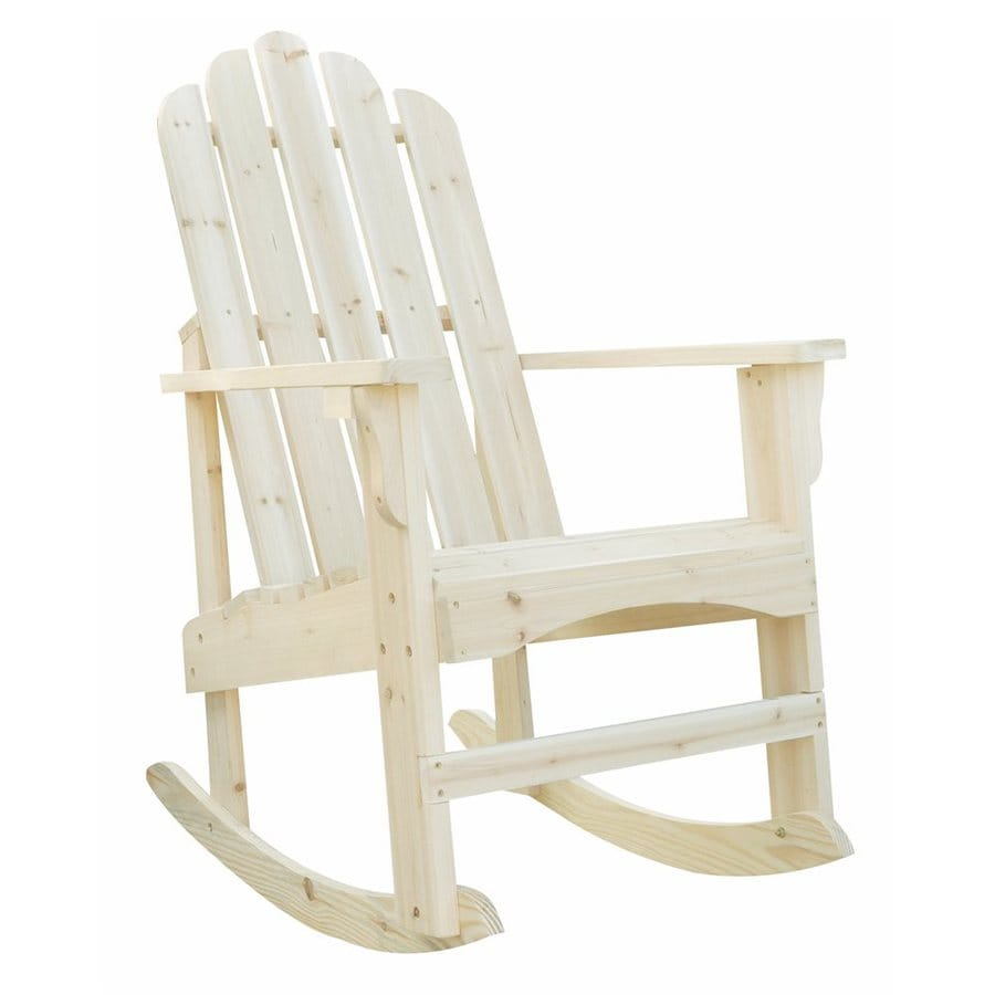 Shine Company Marina Cedar Rocking Chair With Slat Seat