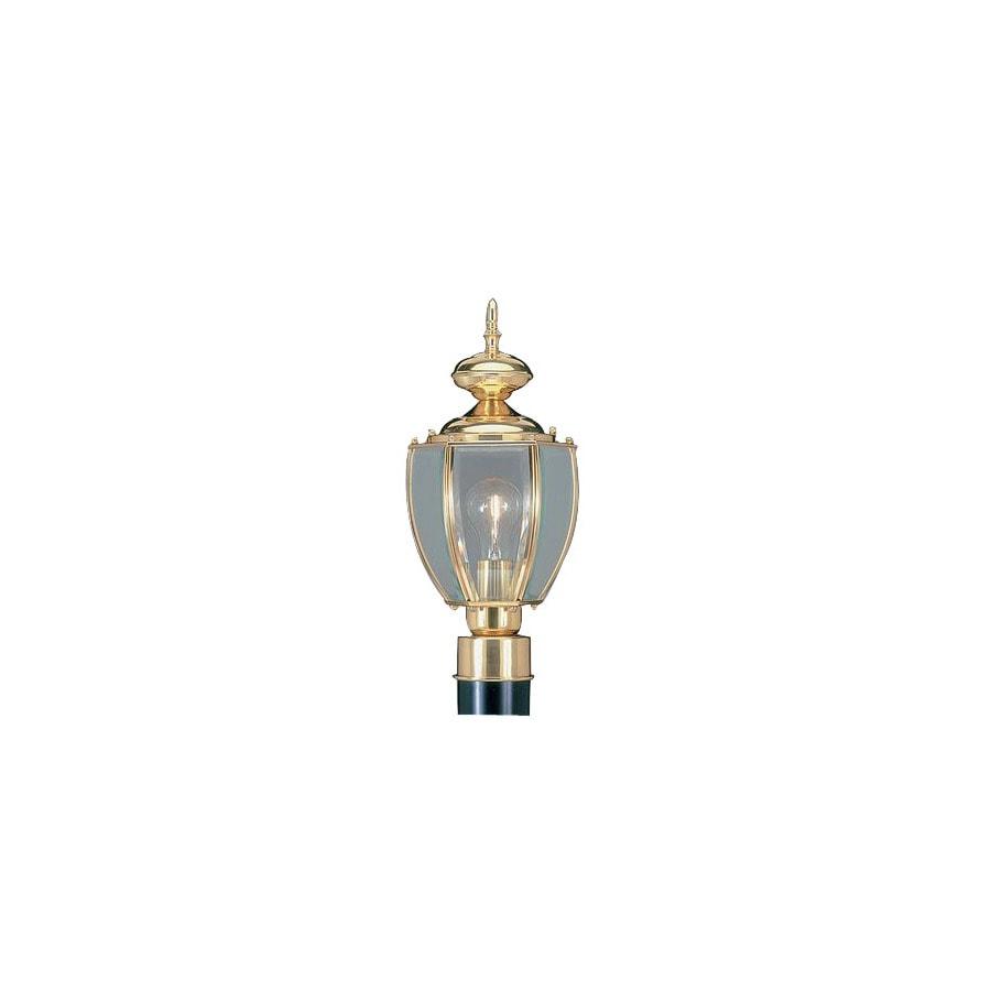 Livex Lighting Basics 16-in Polished Brass Pier Mount Light