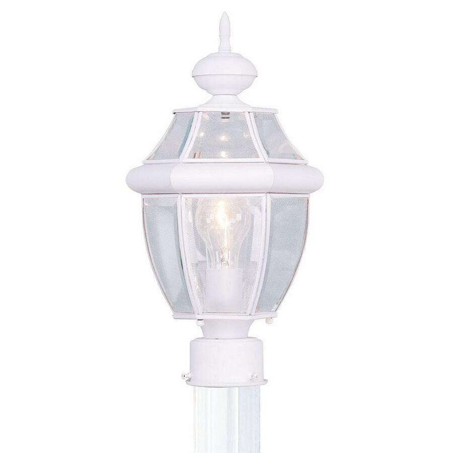 Livex Lighting Monterey 15-3/4-in White Pier Mount Light