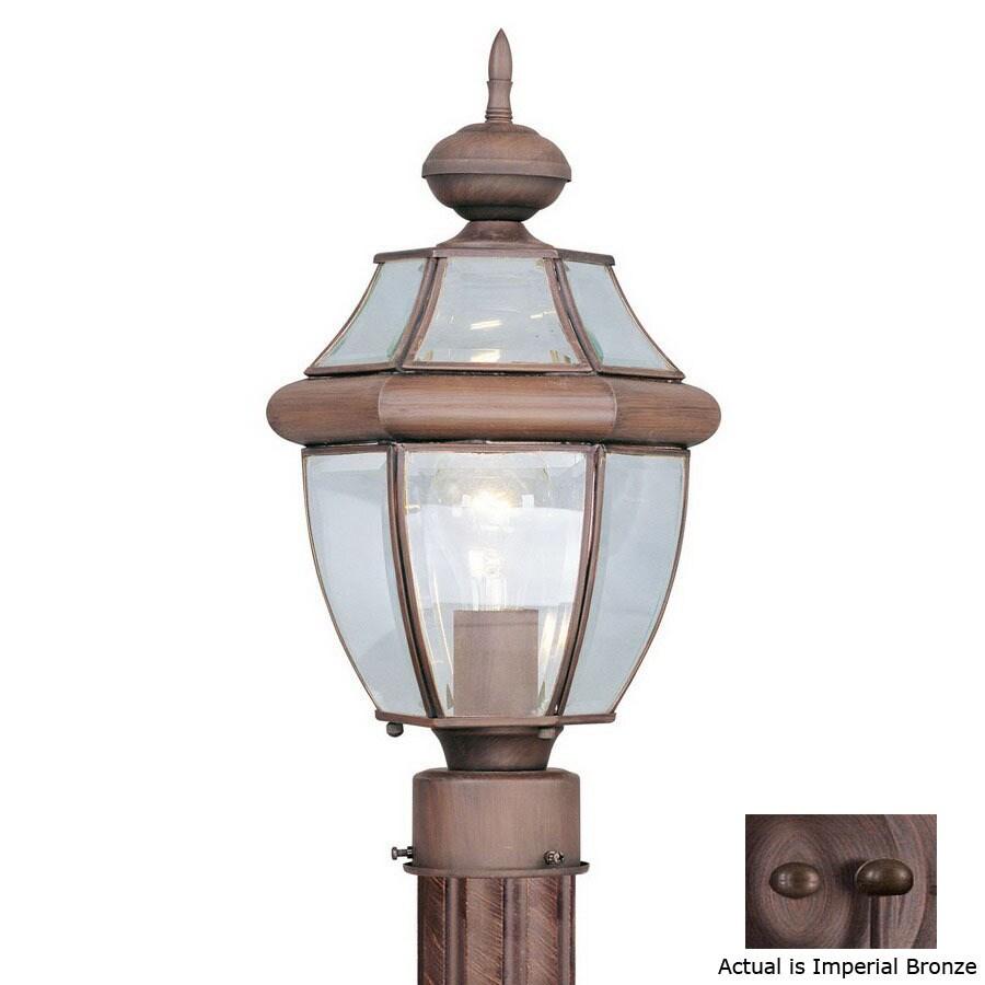 Livex Lighting Monterey 15-3/4-in Imperial Bronze Pier Mount Light