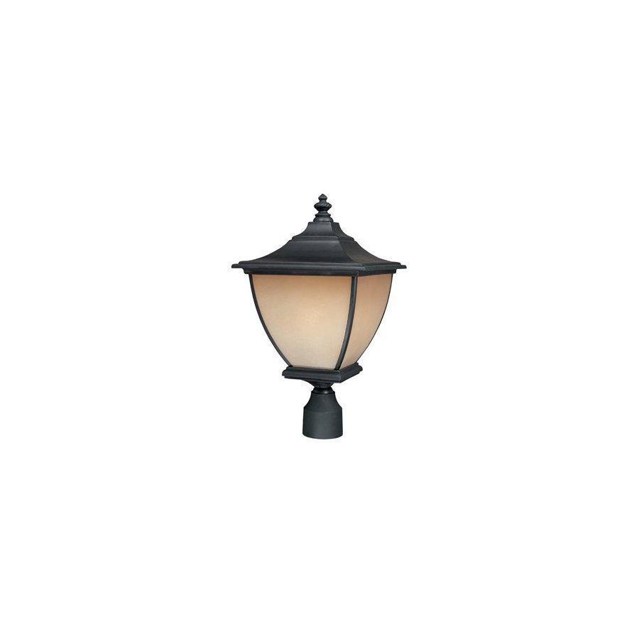 Thomas Lighting Trent 16-3/4-in Black Pier Mount Light