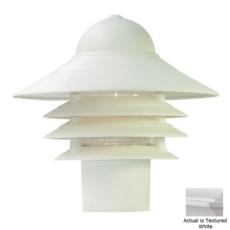 Acclaim Lighting Mariner 10-in Textured White Pier Mount Light