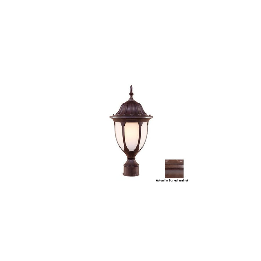 Acclaim Lighting Suffolk 19-in Burled Walnut Pier Mount Light