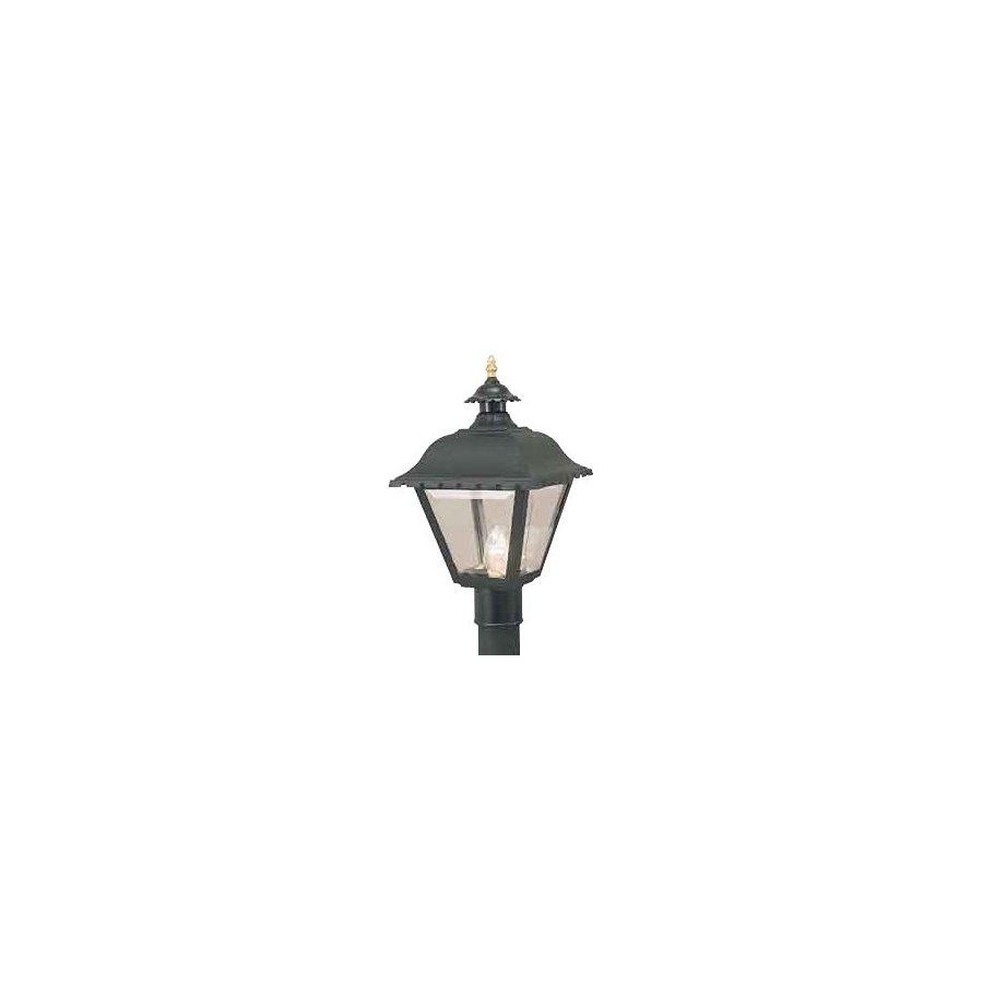 International Lighting 17-1/4-in Black Pier Mount Light