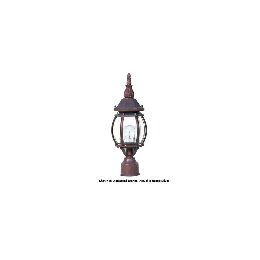 International Lighting 14-1/2-in Rustic Silver Pier Mount Light