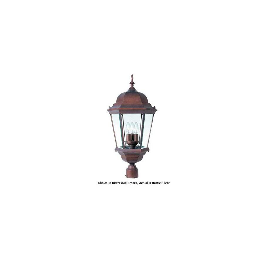 International Lighting 27-in Rustic Silver Pier Mount Light