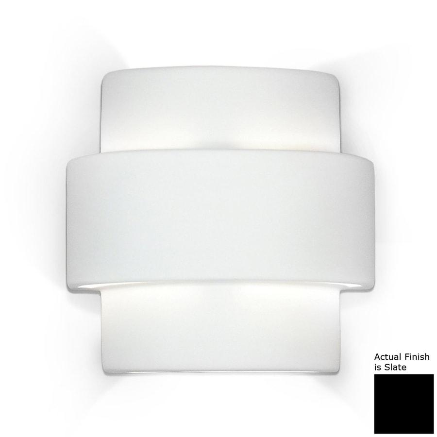 A-19 Islands Of Light Santa Inez 9.75-in W 1-Light Slate Pocket Hardwired Wall Sconce