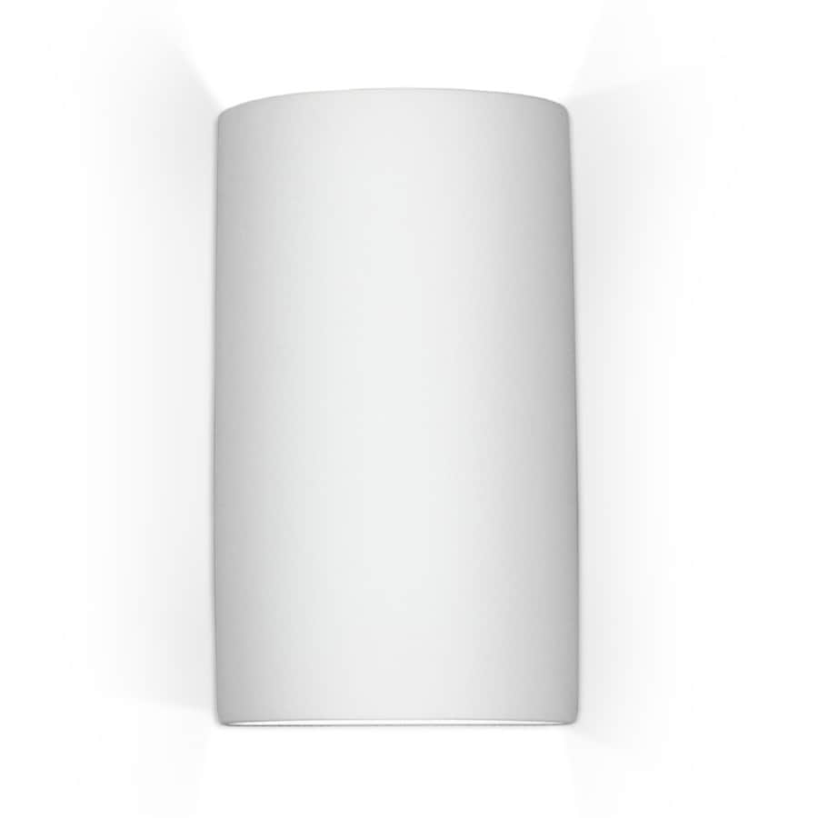 A-19 Islands Of Light Gran Tenos 7.75-in W 2-Light Satin white Pocket Wall Sconce