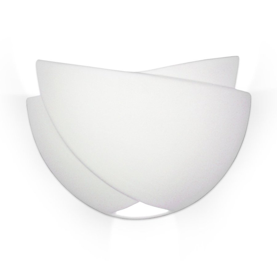 A-19 Islands Of Light Gran Ceylon 12.25-in W 2-Light Satin White Pocket Hardwired Wall Sconce