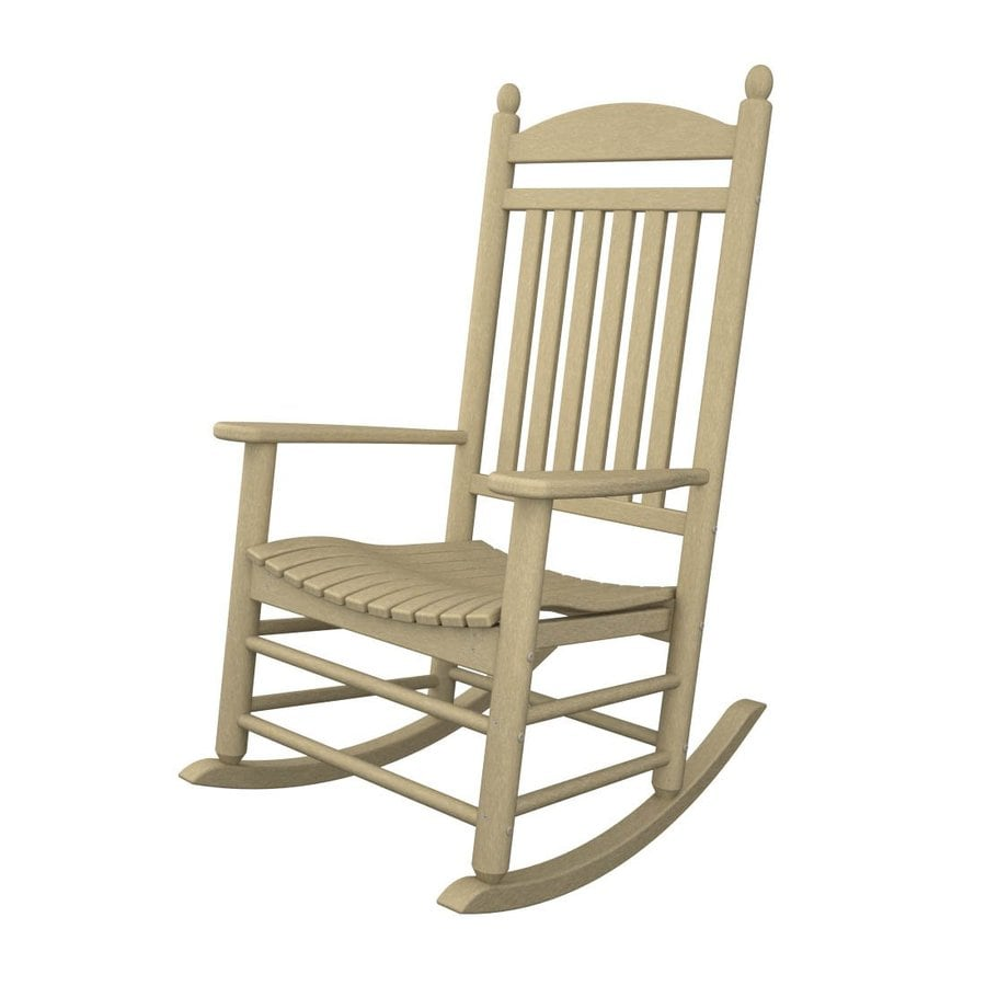 Charmant POLYWOOD Sand Recycled Plastic Slat Seat Outdoor Rocking Chair