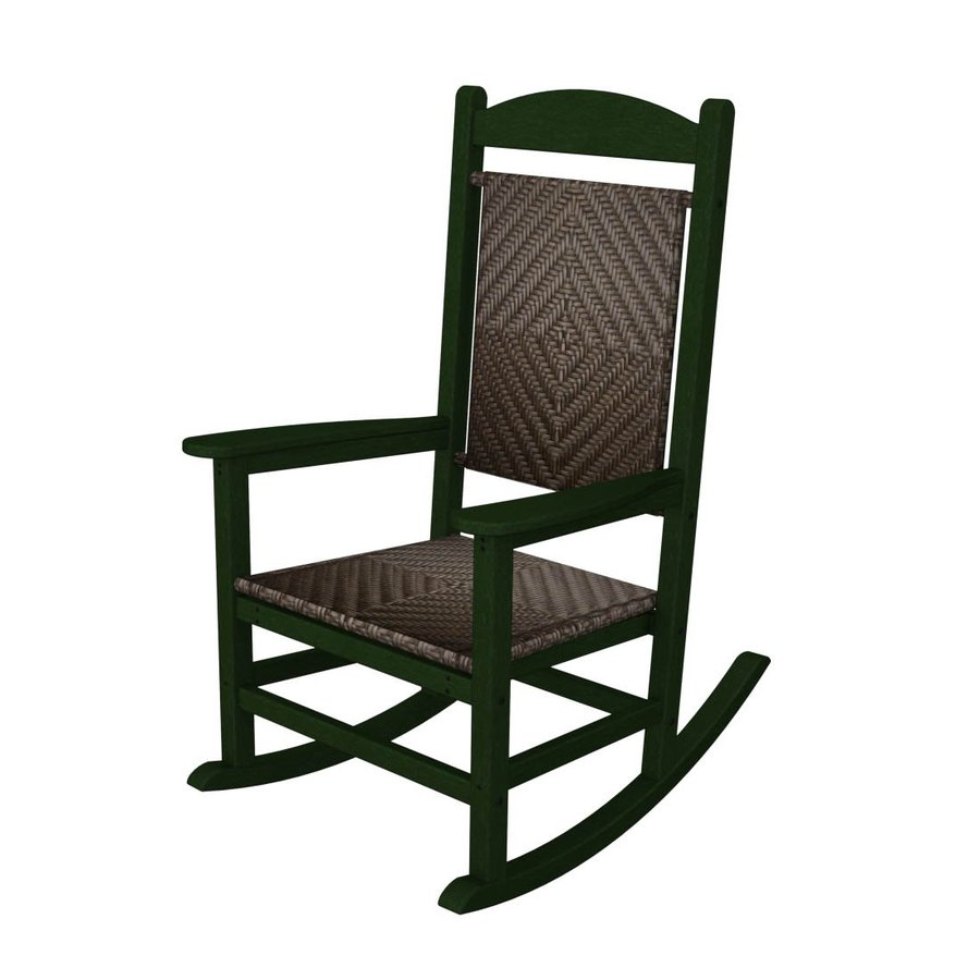... Presidential Green/Cahaba Plastic Patio Rocking Chair at Lowes.com