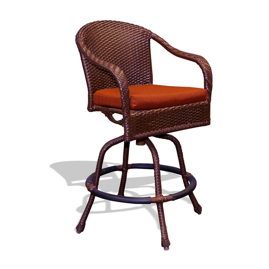 Tortuga Outdoor Lexington Java Wicker Barstool Chair