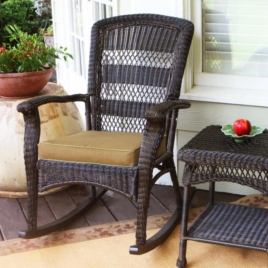 home chair wicker seat rocking at grey cushions