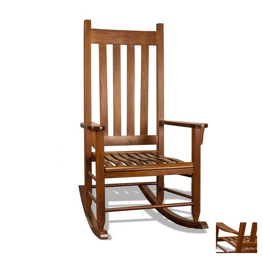 shop tortuga outdoor oak outdoor rocking chair at lowes com