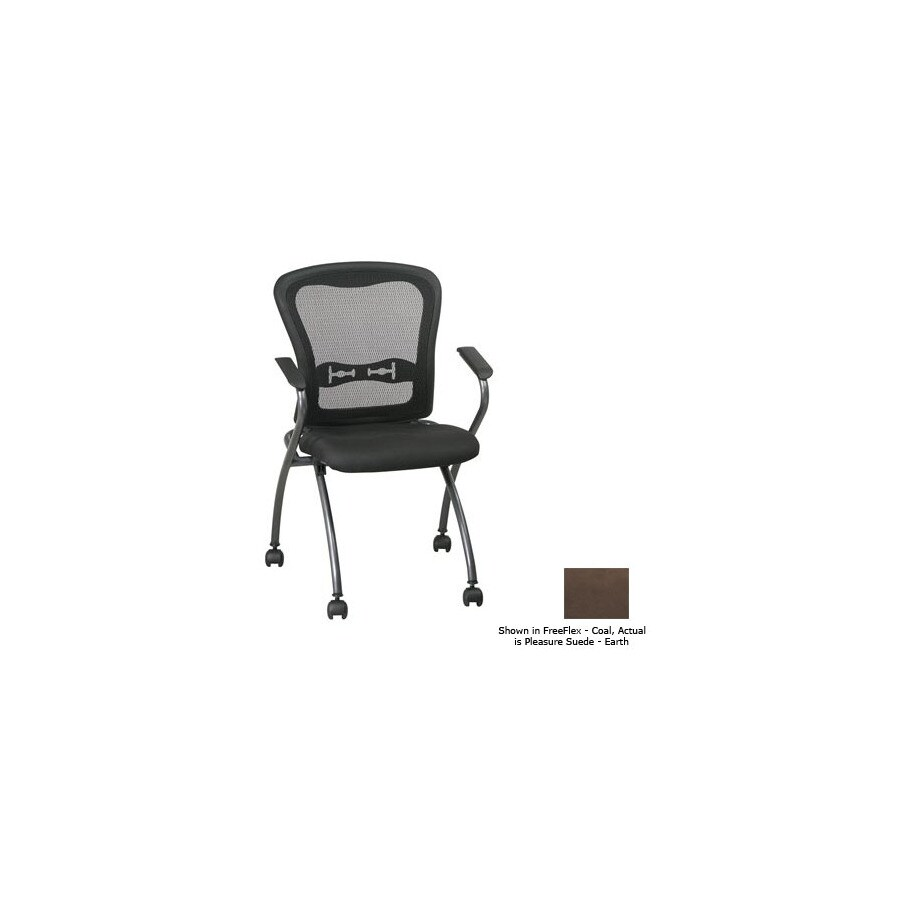 Office Star Set of 2 Proline II Pleasure Suede Earth Task Folding Office Chairs