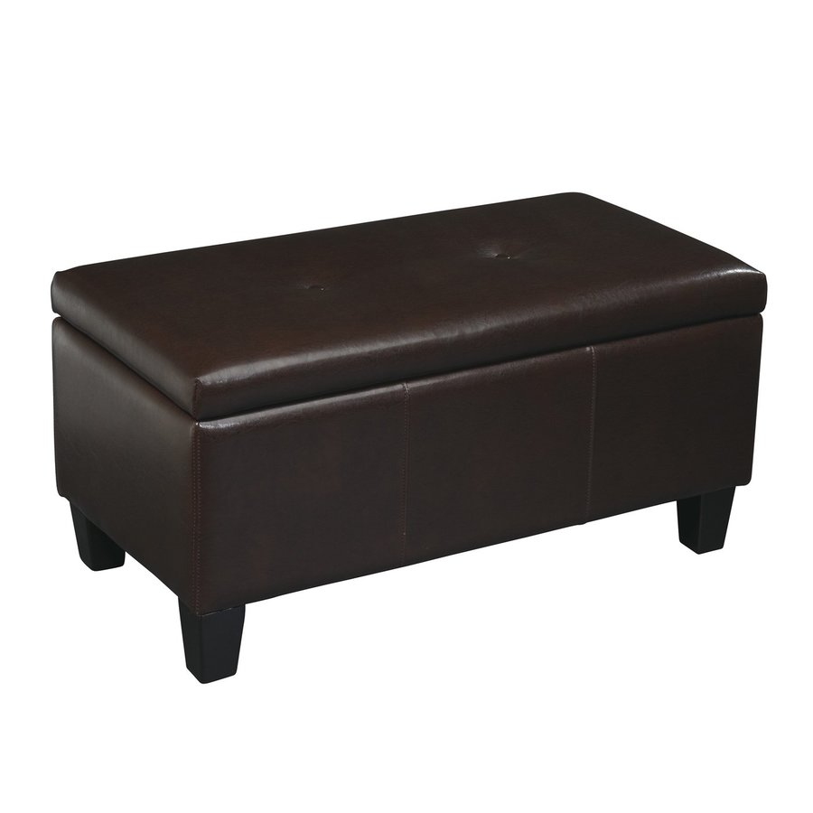 Office Star Avenue Six Espresso Faux Leather Ottoman
