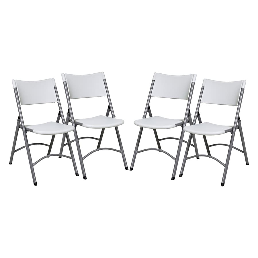 Office Star Chairs shop office star 4-pack indoor/outdoor standard folding chairs at
