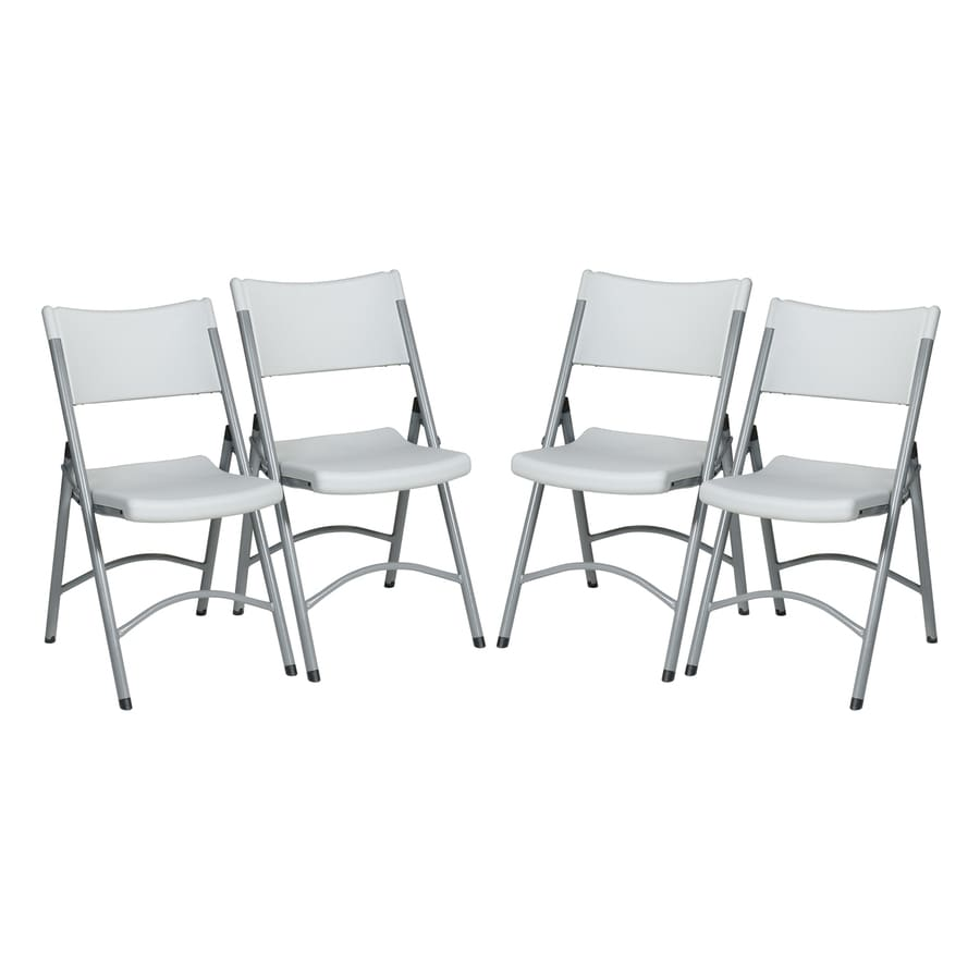 Office Star 4-Pack Indoor/Outdoor Standard Folding Chairs