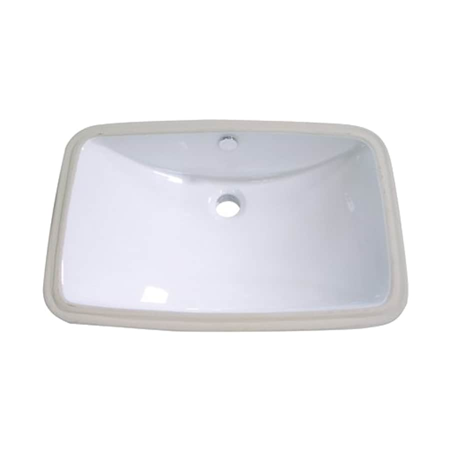 Elements of Design Forum White Undermount Rectangular Bathroom Sink with Overflow