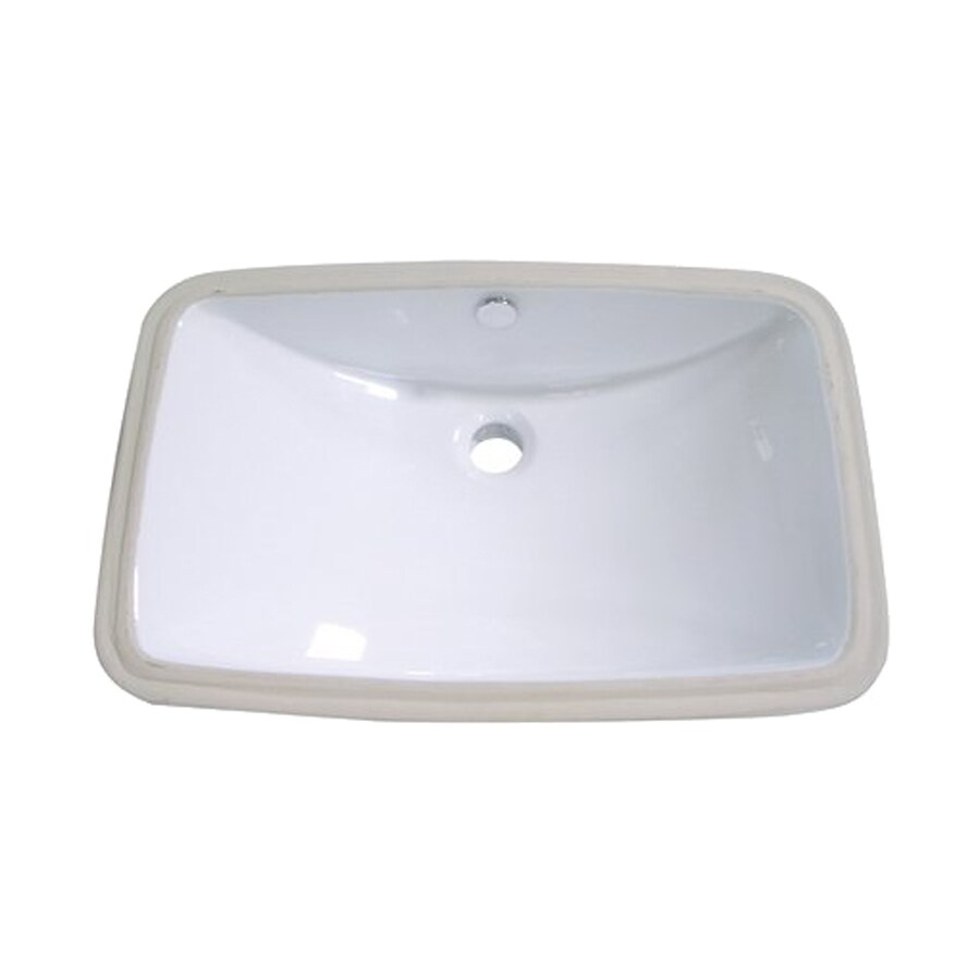 Shop Elements Of Design Forum White Undermount Rectangular Bathroom Sink With Overflow At